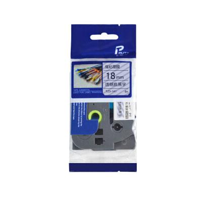 普贴TZ3-641标签纸色带18mm黄底黑字