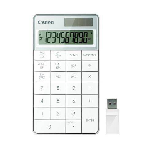 佳能 X Mark I Keypad RF 桌面计算器(白色)