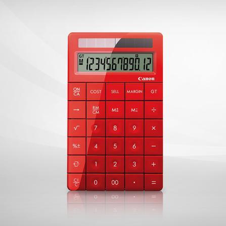 佳能 X Mark I 计算器(红色)