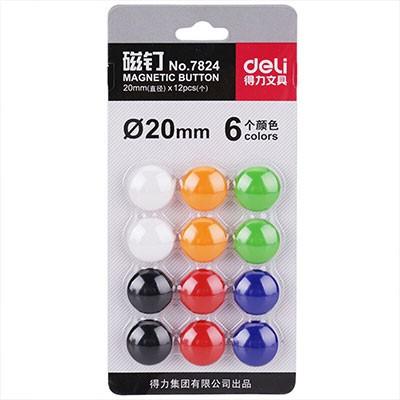 得力磁钉 7824磁钉20mm 12个/卡