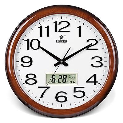 POWER霸王创意挂钟19英寸木纹色
