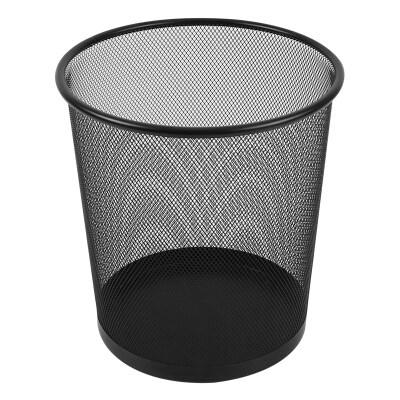 晨光260mm中号黑色金属网状垃圾桶单个装ALJ99404
